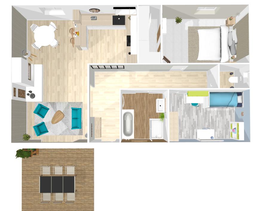 plan d'aménagement maison zen