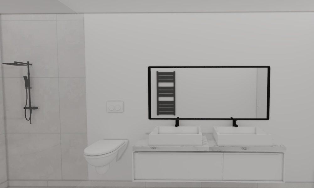 plan 3d salle d'eau