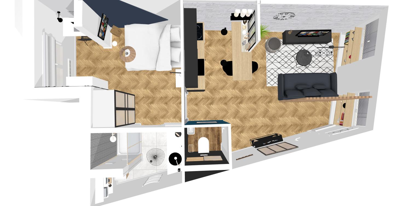 Plan 3D décoration intérieure en ligne