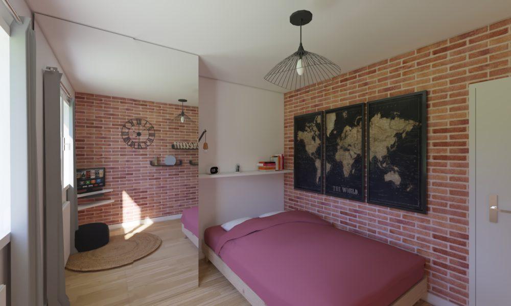 Décoration chambre style industrielle