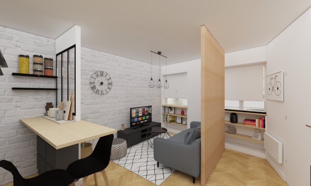 Relooking appartement indus/moderne