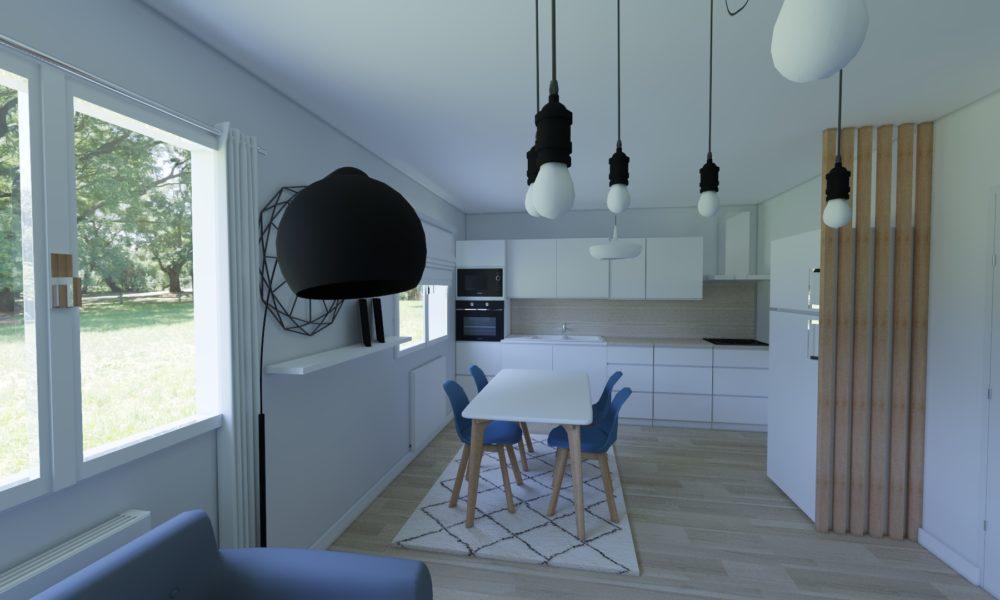 décoration double séjour scandinave-industrie