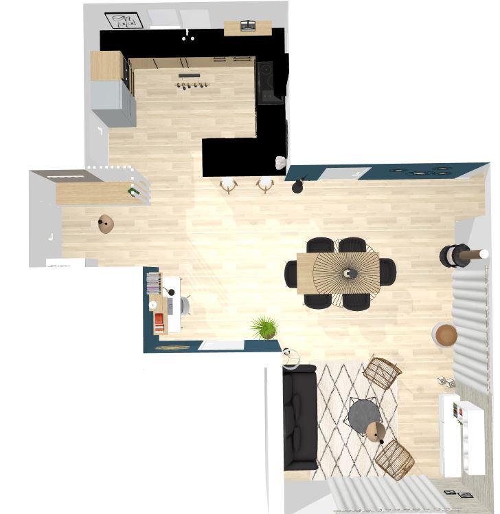 L'Atelier d'Angélique - Plan d'aménagement pièce de vie