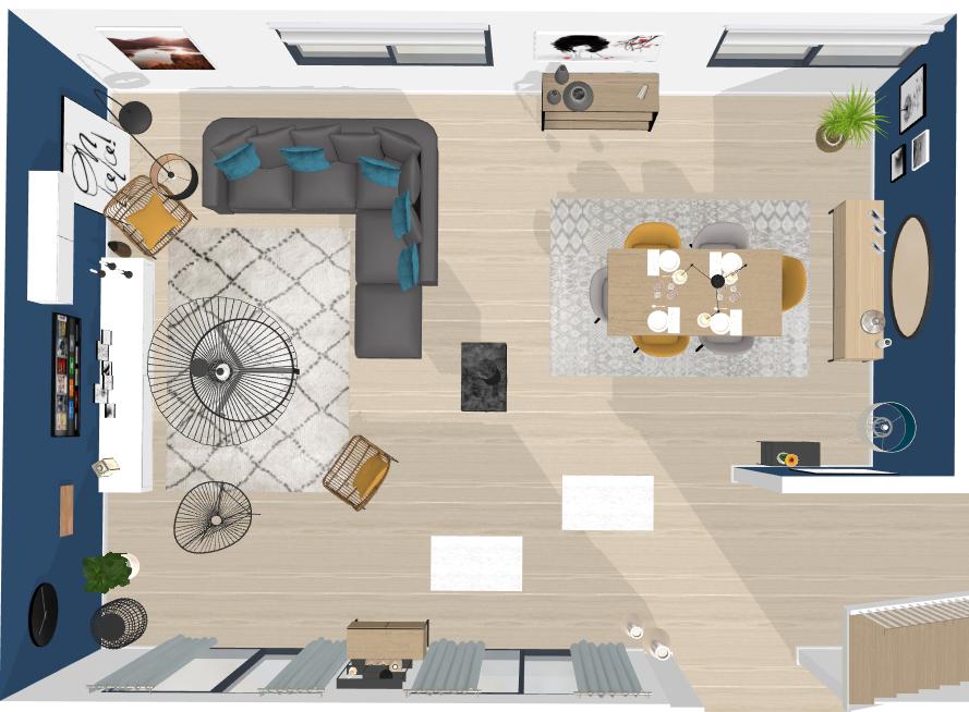 plan d'aménagement double séjour en ligne
