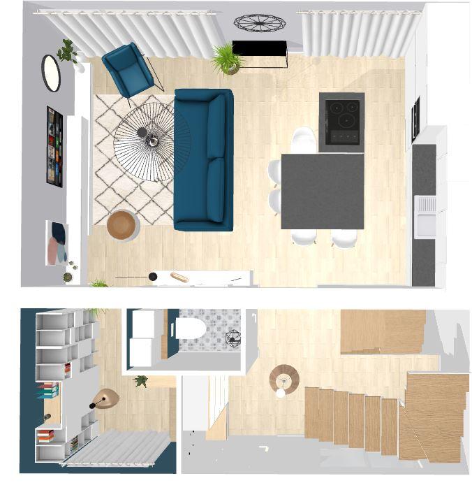Plan d'aménagement intérieur maison Nogent sur Marne