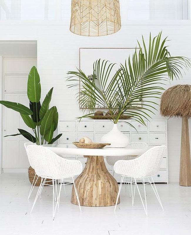 Chambre décoration tropicale par décoratrice d'intérieur